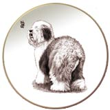 Old English Sheepdog Laurelwood Dog Plate