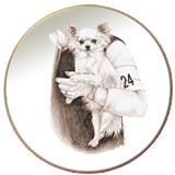 Chihuahua  Laurelwood Dog Plate