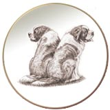 Saint Bernard Laurelwood Dog Plate