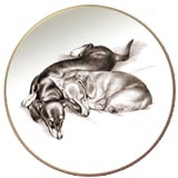 Dachshund Laurelwood Dog Plate