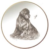 Newfoundland Laurelwood Dog Plate