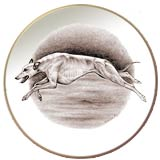 Greyhound Laurelwood Dog Plate