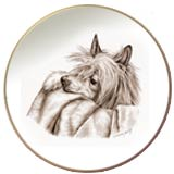 Laurelwood Chinese Crested Dog Plate