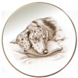 Laurelwood Dog Plate Dachshund