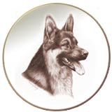 Laurelwood Dog Plate German Shepherd