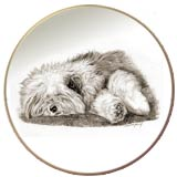 Laurelwood Dog Plate Old English Sheepdog