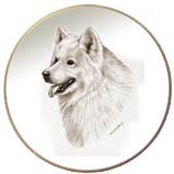 Laurelwood Dog Plate Samoyed