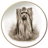 Laurelwood Dog Plate Yorkshire Terrier