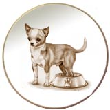 Laurelwood Plate Chihuahua Dog Picture