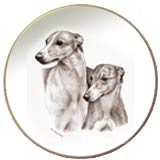 Laurelwood Plate Greyhound Dog