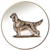 Irish Setter Laurelwood Dog Plate