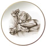 Weimeraner Laurelwood Dog Plate