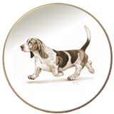 Laurelwood Plate Basset Hound Art