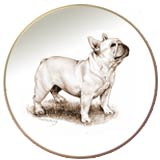 Laurelwood Dog Plates French Bulldog