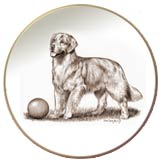 Laurelwood Plates Golden Retriever