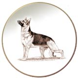 Laurelwood Dog Plates German Shepherd