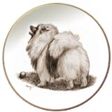 Keeshond Laurelwood Dog Plate