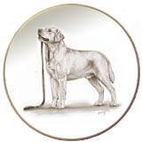 Labrador Retriever Laurelwood Dog Plate