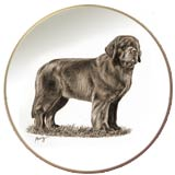 Laurelwood Dog Plate Newfoundland
