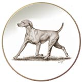 Laurelwood Dog Plate Vizsla