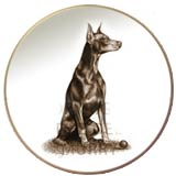 Laurelwood Dog Plate Doberman Pinscher