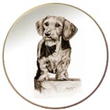 Laurelwood Dog Plates Dachshund Wirehair