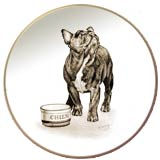 Laurelwood Dog Plate French Bulldog