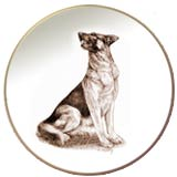 German Shepherd Laurelwood Dog Plate