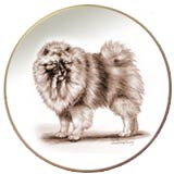 Laurelwood Dog Plates Keeshond