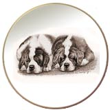 Laurelwood Dog Plates Saint Bernard