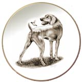 Laurelwood Dog Plate Weimeraner