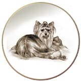 Laurelwood Dog Plate Yorkshire Terrier Yorkie