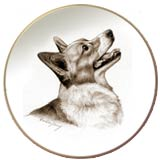 Laurelwood Dog Plate Pembroke Welsh Corgi