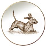 Laurelwood Dog Plates Dachshund
