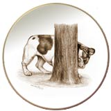 French Bulldog Laurelwood Dog Plate
