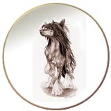 Laurelwood Plate Chinese Crested 2013