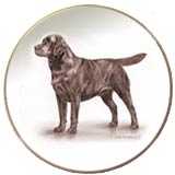 Labrador Laurelwood Dog Plate