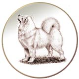Laurelwood Plates Dog Samoyed