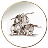 Laurelwood Plate Bassett Hound Dog
