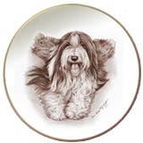 Laurelwood Dog Plate Bearded Collie Beardie