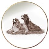 Laurelwood Plates Dog Cavalier King Charles Spaniel