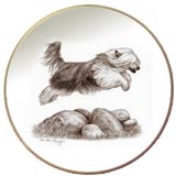 Laurelwood Dog Plate Chinese Crested