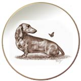 Laurelwood Plate Dachshund Dog