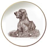 Laurelwood Dog Plates Irish Setter