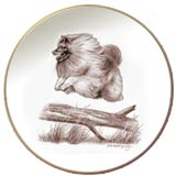 Laurelwood Dog Plate Keeshond