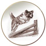 Laurelwood Plate Saint Bernard Dog 2013