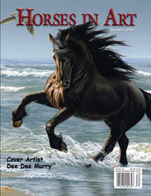 friesian horse art picture